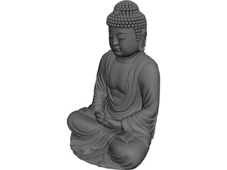 Buddha 3D Model 3D Preview