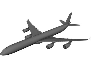 Airbus A340-600 3D Model 3D Preview