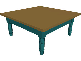 Table Colonial Coffee 3D Model