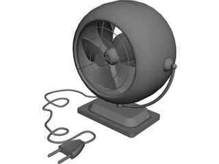 Portable Fan 3D Model 3D Preview