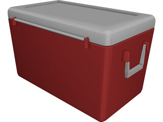 Picnic Cooler 3D Model 3D Preview
