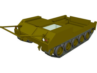 M454 Pershing Missile Carrier 3D Model