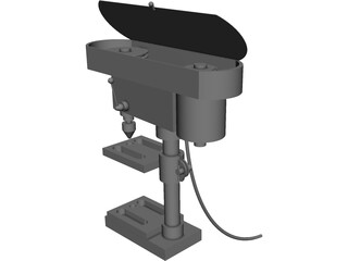 Drill Press 3D Model 3D Preview