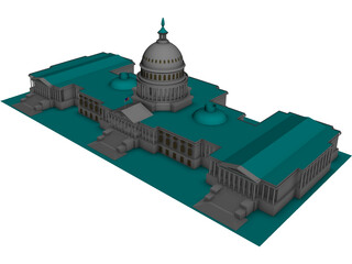 US Capitol Building 3D Model