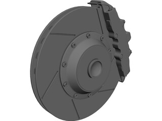Brake Disc and Pads 3D Model