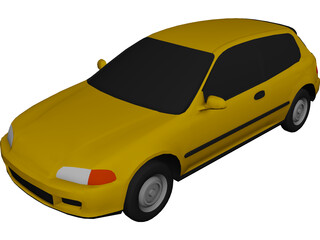 Honda Civic Hatchback 3D Model