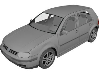 Volkswagen Golf IV (5 doors) 3D Model