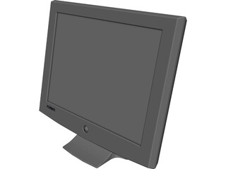 Monitor Computer Flat Screen 3D Model 3D Preview