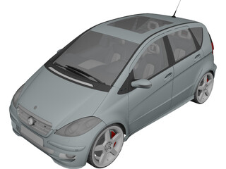 Mercedes-Benz A-Class (2005) 3D Model