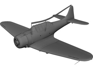 Dauntless Dive Bomber D 3D Model