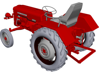 Tractor D326 Mc Cormic CAD 3D Model