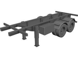 Trailer 20 feet CAD 3D Model