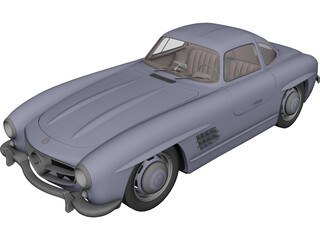 Mercedes-Benz 300 SL 3D Model