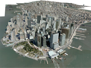 New York City, Manhattan 3D Model