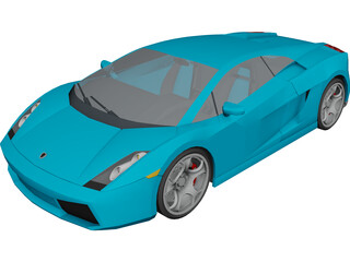 Lamborghini Gallardo (2008) 3D Model