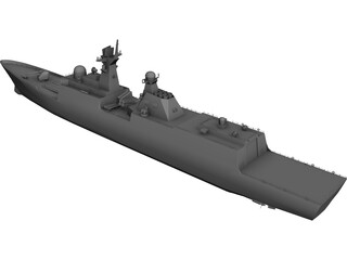 JIANGKAI Type 054A Frigate 3D Model