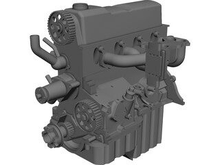 Engine Ford 2.3 CAD 3D Model