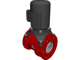 Screw Pump and Motor CAD 3D Model