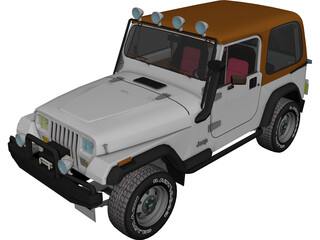 Jeep Wranger 3D Model