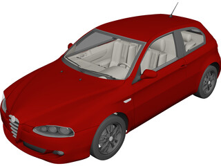 Alfa Romeo 147 3D Model 3D Preview