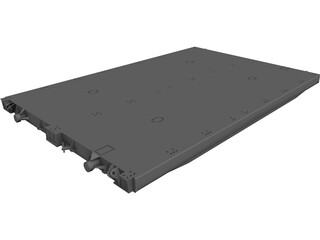 Ship Hatch Cover CAD 3D Model