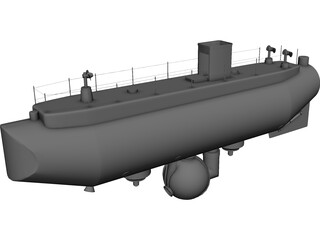 Trieste Submarine 3D Model