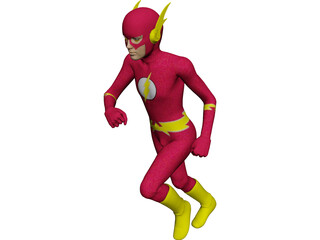 Flash Super Hero 3D Model