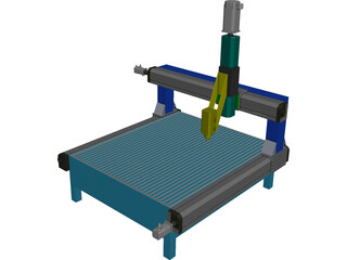 Milling Machine CAD 3D Model