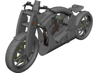Motorcycle Yokohama CAD 3D Model