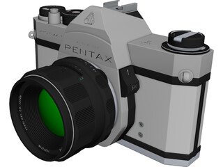 Pentax Spotmatic Camera CAD 3D Model