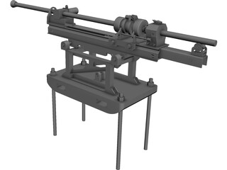 Rock Drilling Machine CAD 3D Model