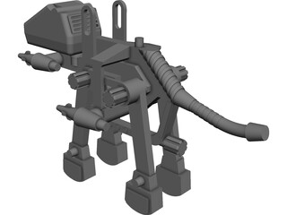 Mechanical Dinosaur Toy CAD 3D Model