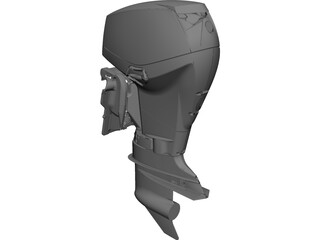 Evinrude E-Tec 40-60 HP Outboard Motor 3D Model 3D Preview