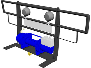 Winch Plate CAD 3D Model