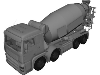 MAN TGA Beton Mixer 3D Model