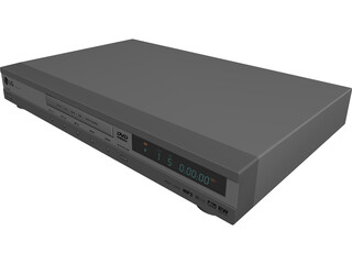 LG DVD Player 3D Model