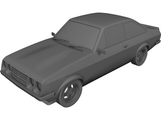 Ford Escort MK2 3D Model
