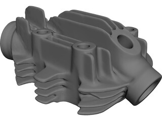 Engine Head Brough Superior 680 CAD 3D Model