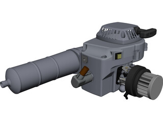 Zenoah 270 RC CAD 3D Model