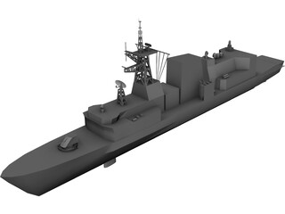 Halifax Class Frigate 3D Model 3D Preview