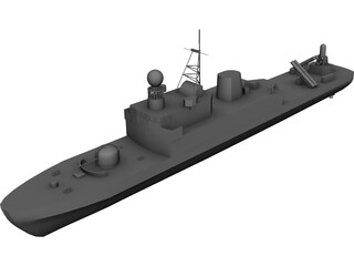 As-Siddiq class missile boat 3D Model