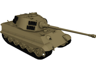 King Tiger CAD 3D Model