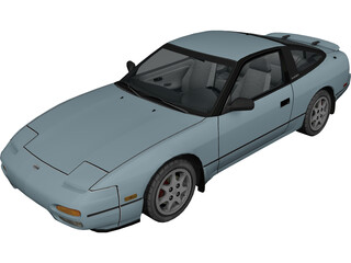 Nissan 240SX 3D Model 3D Preview