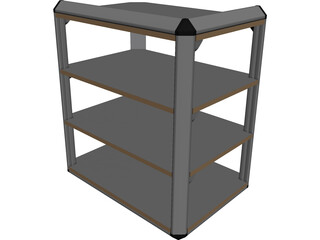 Stereo Rack CAD 3D Model