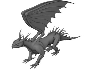 Dragon 3D Model 3D Preview