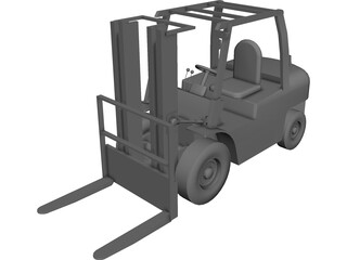 Forklift 54in CAD 3D Model