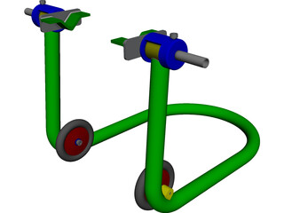 Motorcycle Jack CAD 3D Model