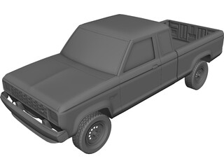 Ford Ranger LTX (1998) 3D Model