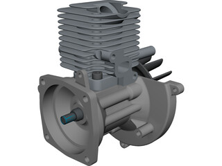 Engine CAD 3D Model