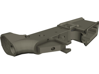 AR-15 Lower Receiver CAD 3D Model
